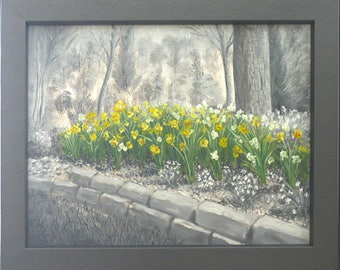 Gray Scale: Daffodils