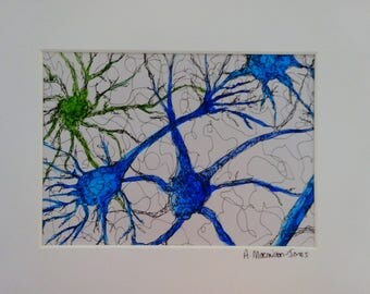 Neural Cell Connections Painting
