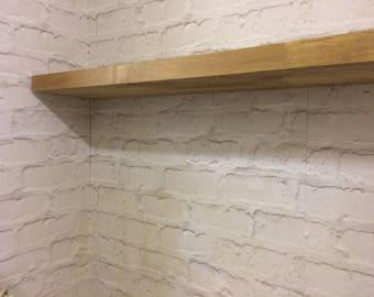 solid oak,walnut,birch floating shelves