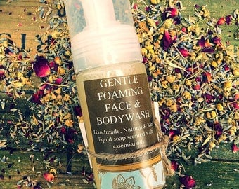 Natural Liquid Soap - Foaming Face & Body Wash 150ml