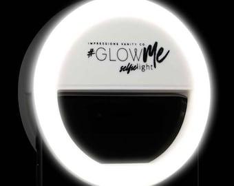 GlowMe LED Selfie Ring Light for Smartphones (White)