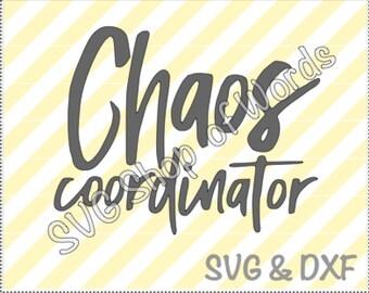 Chaos Coordinator SVG - SVG File - DXF File - Read Details!