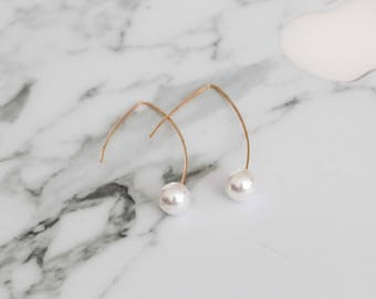 Pearl Hoop Copper Wire (SILVER OR GOLD)