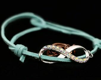 Lover's Infinity- adjustable bracelet
