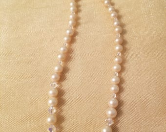 Cream color beaded necklace