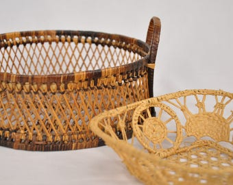 Basket Duo - sweet delicate small baskets - Set of two