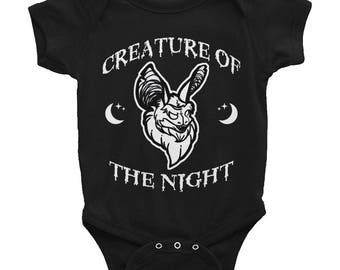 Creature of the Night Baby Onesie by GothGoth Co.
