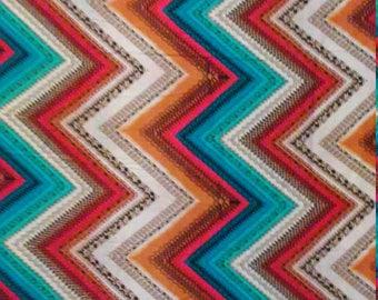 3 yards of rayon colorful chevron print