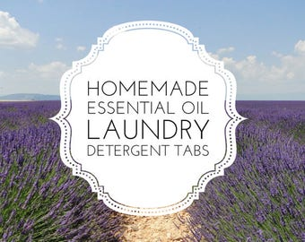 Homemade Essential Oil Laundry Detergent Tabs