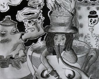 Mad Hatter, Original Print