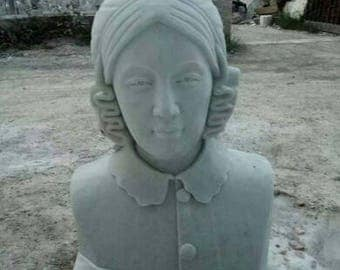 Custom portrait sculpture carved in marble