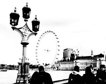 London Black And White Photography London Eye