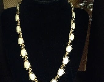 Gold-Plated and Painted Ivory Penguin Chain