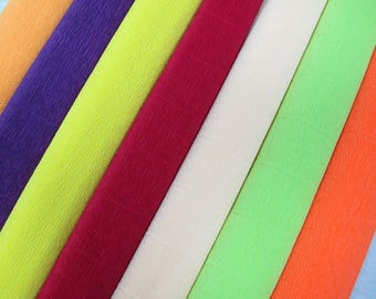 Crepe paper,one color 140g 50cm / 2.50m,different colors,Italian paper crepe