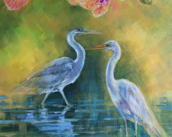Orhids and Egrets