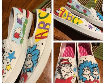 Dr Seuss inspired shoes