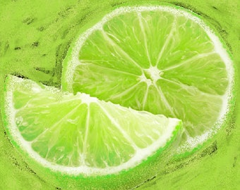 Lime Digital Download Clip Art