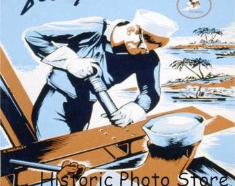 """War Poster """"Build For Your Navy"""""""