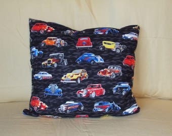 Hot Rod Car Pillow