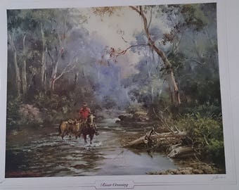 Darcy Doyle limited edition print River Crossing.