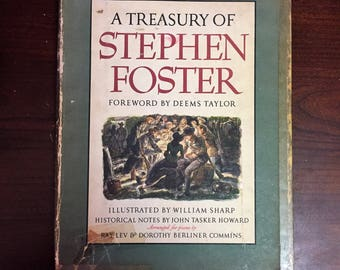 A Treasury Of Stephen Foster ( Vintage Song Music Book)