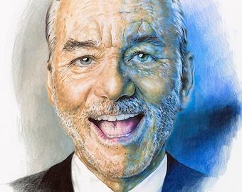 Bill Murray Color Pencil ORIGINAL ARTWORK