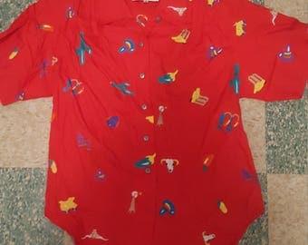 Southwest/Western Women's Button Up