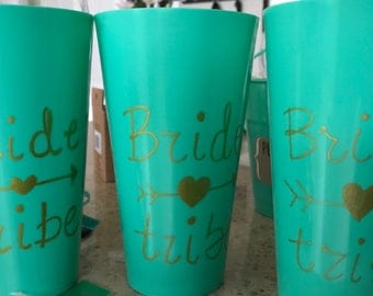 Handmade Bride Tribe Party Cups