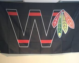 "Chicago Blackhawks ""W"" Wall Flag"