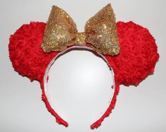 Rose sparkle ears
