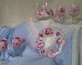 Beautiful Roses Beverage Set