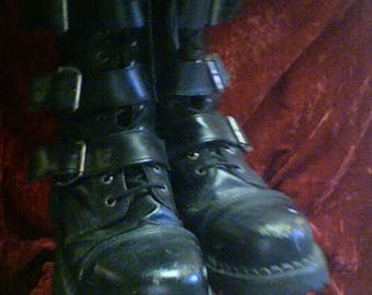 Mens's Gothic Knee High Demonia Boots