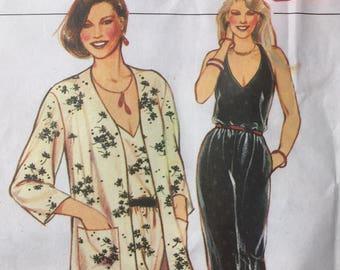 Style 80s dress pattern size 16 unused jacket jumpsuit vintage
