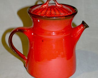 Metlox Poppytrail, California Pottery, Medallion Red Coffee Pot