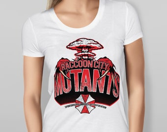 "Womens ""Raccoon City Mutants"" Resident Evil - White T-shirt"