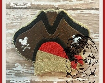 PiRATE HaT Center (Add On ~ 1 Pc) Mr Miss Mouse Ears Headband ~ In the Hoop ~ Downloadable DiGiTaL Machine Embroidery Design by Carrie