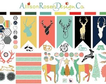 So Deer! Series 02 || Deer, Deer Heads, Jumping Deer, Antlers and Hexagons || Erin Condren Planner Stickers, Happy Planner, Filofax ++