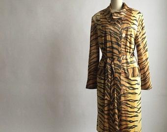 1960s Rain-Paka Traveler Tiger Print Trench Coat by David Smith