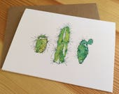 Cacti Note Cards - Cactus Note Cards - Desert Note Cards - Cactus Trio Cards - Desert Cactus Note Cards - Box of 6