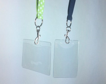 lanyard id holder, plastic id holder for lanyard, badge reel for lanyard, lanyard, id holder, id badge reel, retractable badge holder
