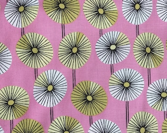 Weighted Blanket - Adult or Child - Retro Modern Flowers Pink Olive Green - Choose your weight (up to 15 lbs) and minky color