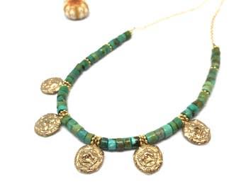 Turquoise Sea Urchin earrings