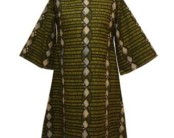 Tunic top, African print Tunic, African Fashion, Green tunic, African tunic, Ankara Print Dress, Loose fit tunic top, Tunic dress