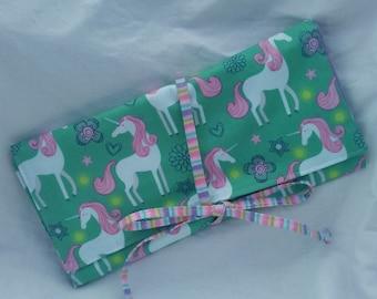 Interchangeable Needle Case - Sparkle Unicorns!