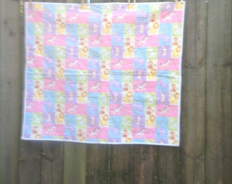 Precious Moments Mock Patchwork Baby Quilt FREE SHIPPING