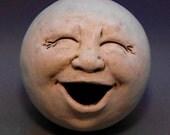 Singing Moon Garden Head, Antique White