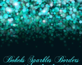 Bokehs Sparkles Borders | Bokehs Sparkles Overlays | Photoshop PNG Digital Overlays | Digital Downloads | Digital Backdrops | Bokehs Borders