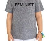 FEMINIST T-shirt, Kids, 2T - 12 Years, Extra Soft Eco Cotton Blend, Anna Joyce, Portland, OR