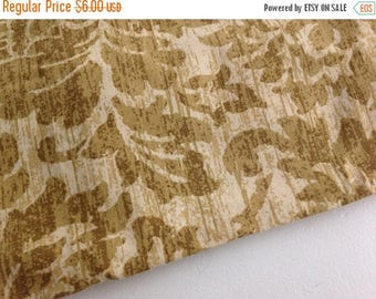 40% OFF- Golden Floral Fabric-Elegant Design-Reclaimed Bed Linen Fabric
