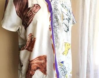 Lorimarsha-Handmade-Equestrian-Silk-V-Neck-Top-Medium